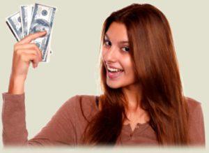 chica-con-dinero